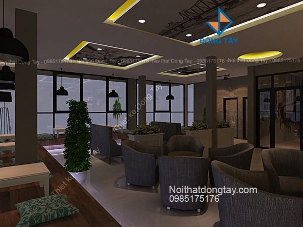 Mẫu nội thất quán cà phê tầng 2