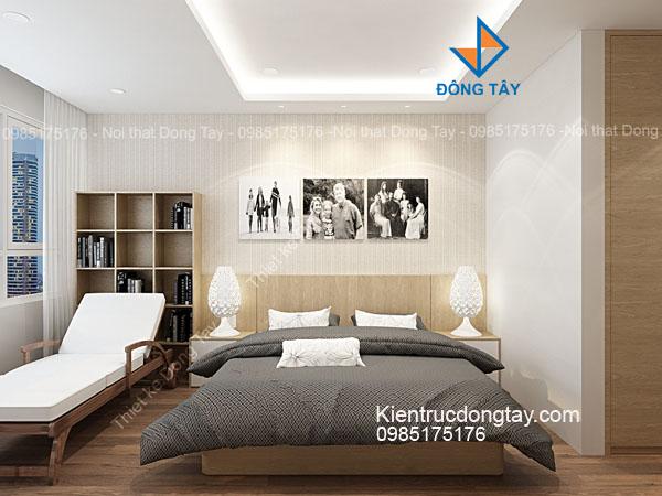 Mẫu thiết kế nội thất phòng ngủ căn hộ chung cư Hoàng Minh Giám