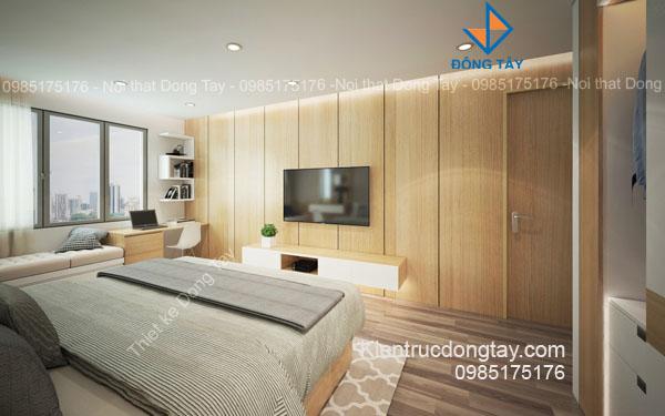 Mẫu thiết kế phòng ngủ căn hộ chung cư