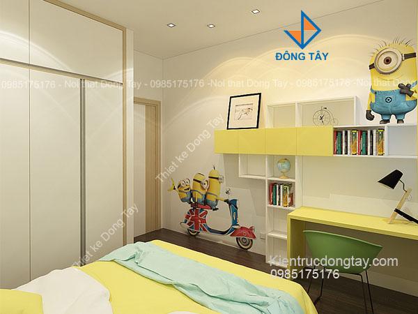 Thiết kế phòng ngủ cháu trai