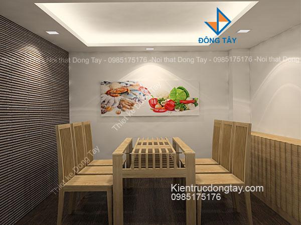 Mẫu phòng ăn nhà hàng nhỏ