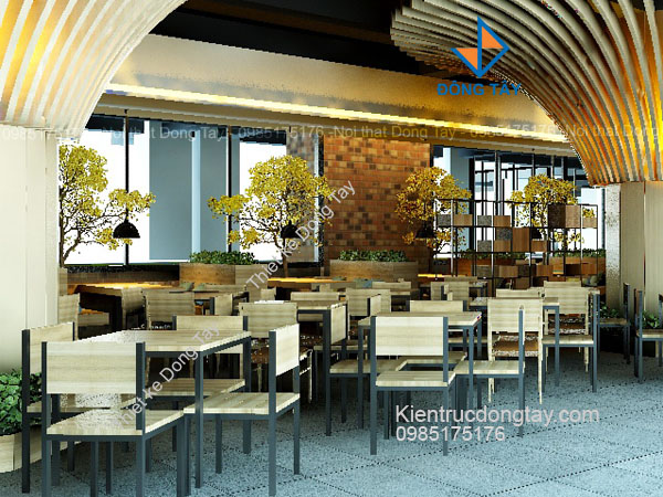 Mẫu thiết kế nhà hàng sang trọng