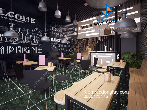 Mẫu thiết kế quán cà phê take away đẹp