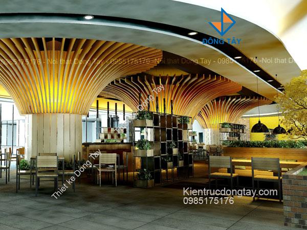 Mẫu thiết kế quán cà phê tòa nhà đẹp