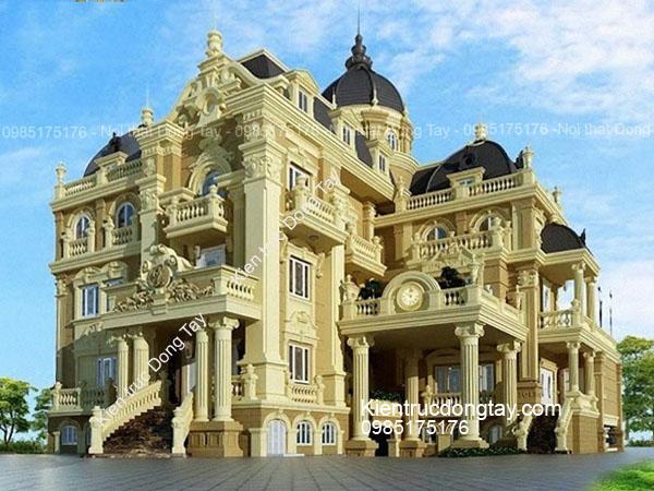Mẫu biệt thự lâu đài kểu pháp