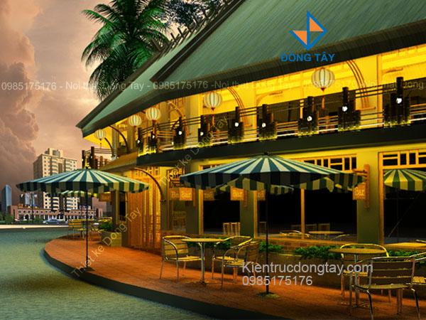 Mẫu thiết kế nhà hàng nhà sàn đẹp