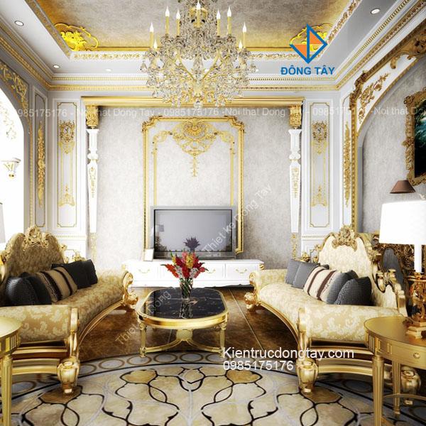 Thiết kế nội thất biệt thự lâu đài