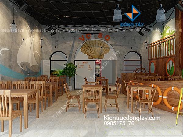 Mẫu thiết kế nhà hàng hải sản