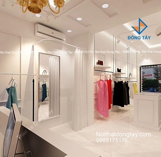 Mẫu thiết kế thi công shop thời trang nữ