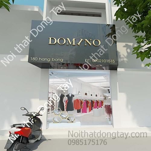 Thiết kế mặt tiền showroom thời trang