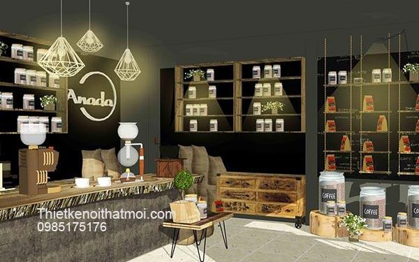 Góc bố trí cửa hàng cà phê