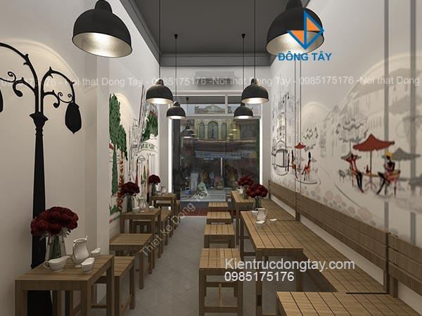 Mẫu quán cà phê nhỏ hẹp
