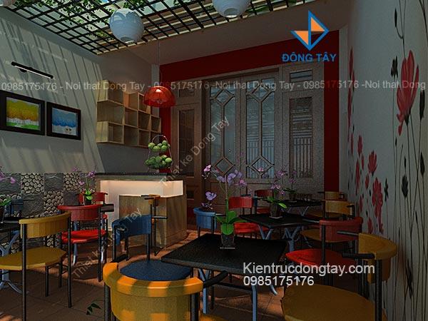 Mẫu quán cà phê sân nhà ống đẹp