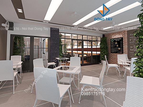 Mẫu quán cafe hiện đại