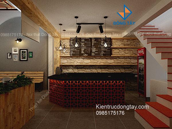 Mẫu quầy bar quán cà phê đẹp