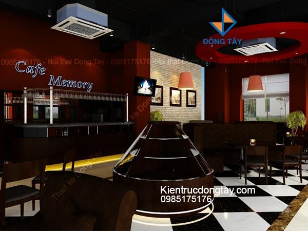 Mẫu thiết kế quán cafe memory