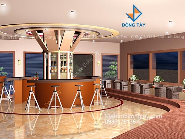 Thiết kế bar coffee trung tâm