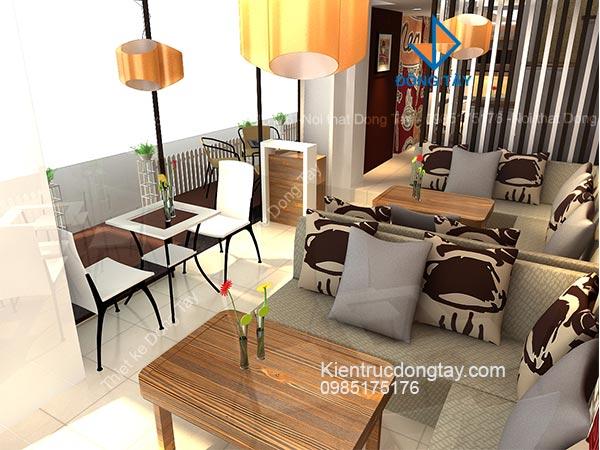 Thiết kế mẫu quán cafe đẹp chi phí thấp