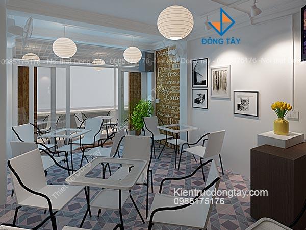 Thiết kế quán cafe nhỏ xinh