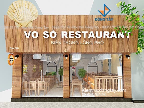 Biển mặt tiền nhà hàng Vỏ Sò