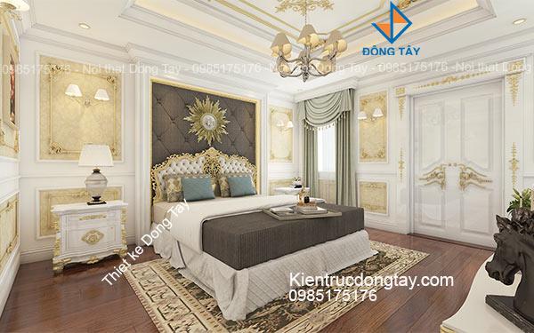 Thiết kế phòng ngủ chung cư tân cổ điển đẹp