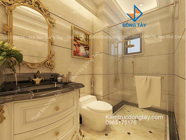 Thiết kế phòng tắm chung cư tân cổ điển