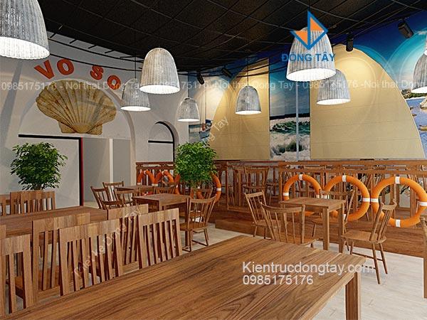 Thiết kế nội thất nhà hàng vỏ sò