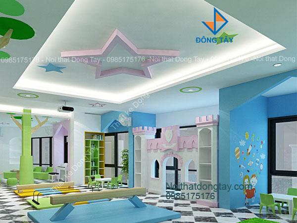 Thiết kế khu rèn luyện sức khỏe trẻ em trong nhà