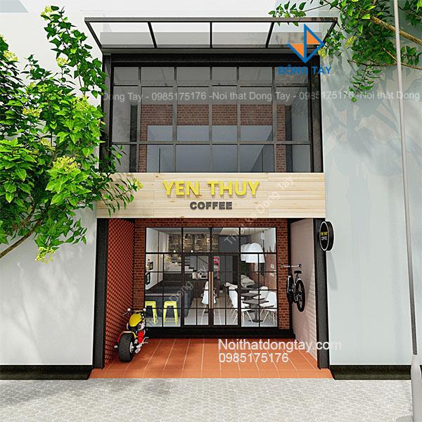 Mặt tiền quán cafe Yên Thủy