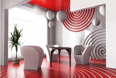 Màu sắc nội thất theo phong thủy phòng khách hành hỏa