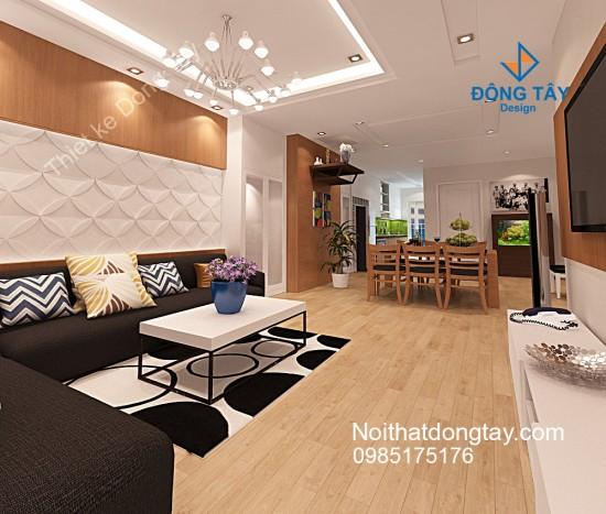 Mẫu thiết kế nội thất chung cư skylight