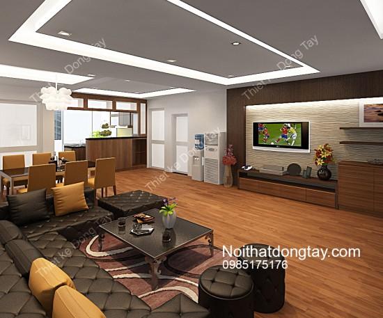 Mẫu thiết kế nội thất chung cư văn quán