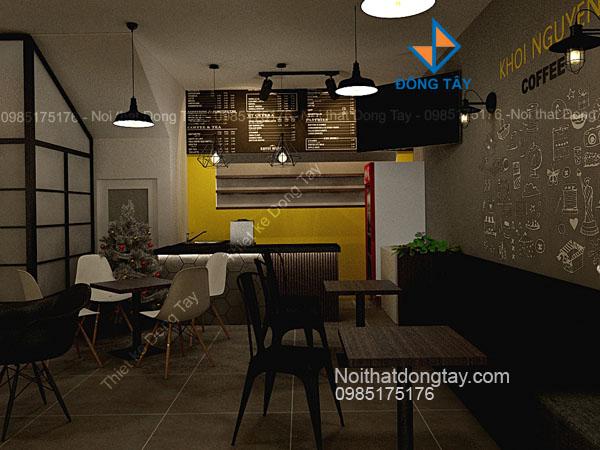 Mẫu thiết kế quán cà phê khôi nguyên