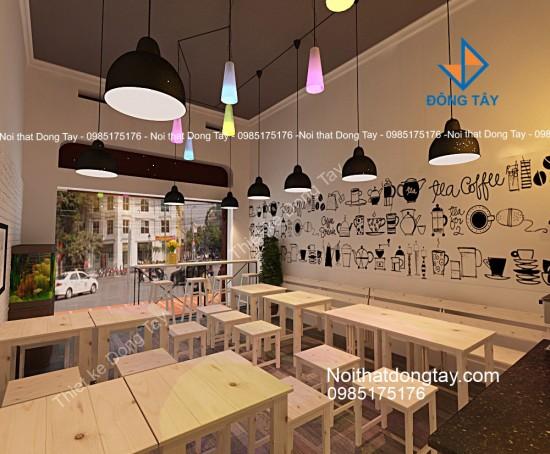 Mẫu thiết kế quán cafe gỗ take away