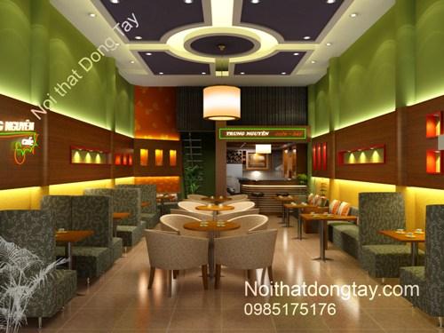 Mẫu thiết kế quán cafe bar Trung Nguyên