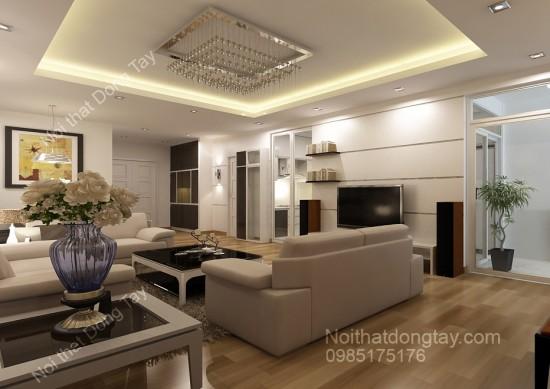 Phòng khách chung cư phong cách hiện đại