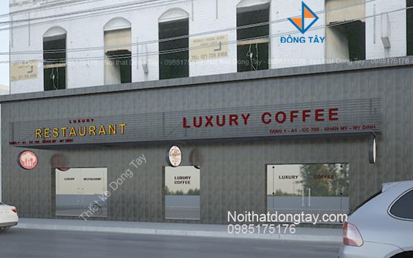 Thiết kế mặt tiền quán coffee