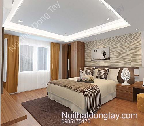 Thiết kế nhà chung cư nội thất phòng ngủ