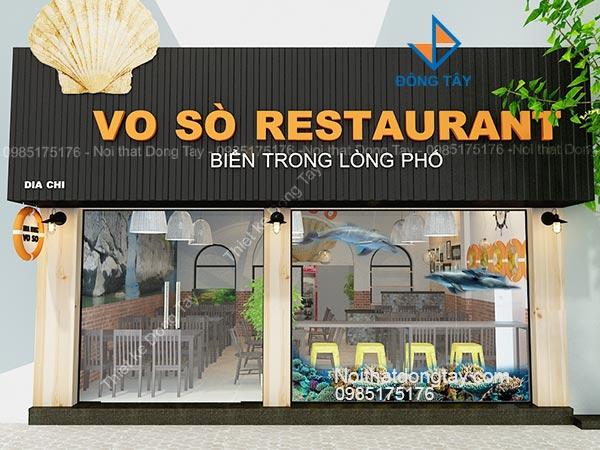 Thiết kế nhà hàng hải sản làng chài