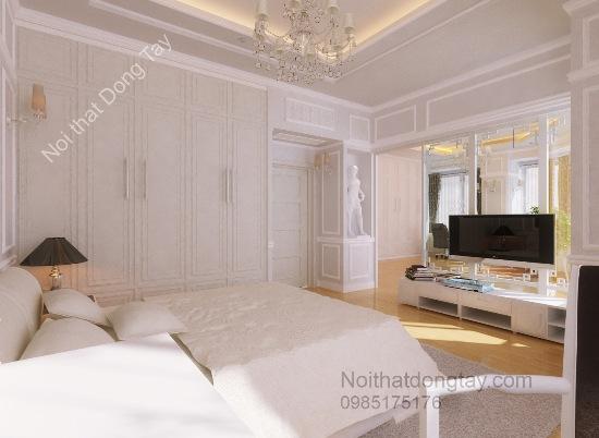 Thiêt kế nội thất phòng ngủ cổ điển cho penthouse