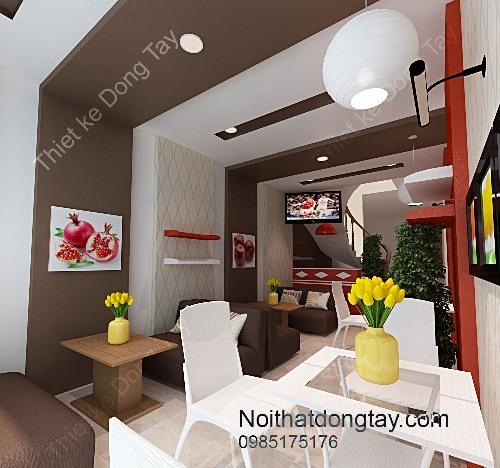 Thiết kế nội thất quán cà phê Tài chính