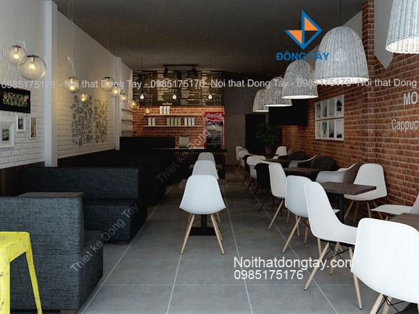 Thiết kế nội thất quán cà phê tại Hòa Bình