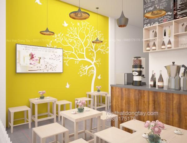 Thiết kế nội thất quán cafe sinh tố