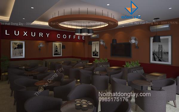 Thiết kế nội thất quán luxury coffee
