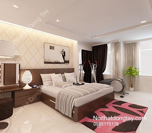 Thiết kế phòng ngủ có máy thể dục