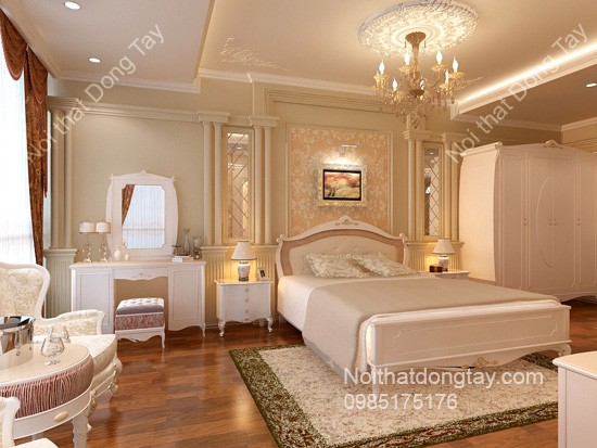 Thiết kế phòng ngủ nội thất nhà cổ điển đẹp