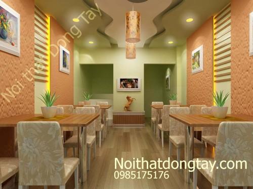 Thiết kế quán cafe nhỏ mặt phố