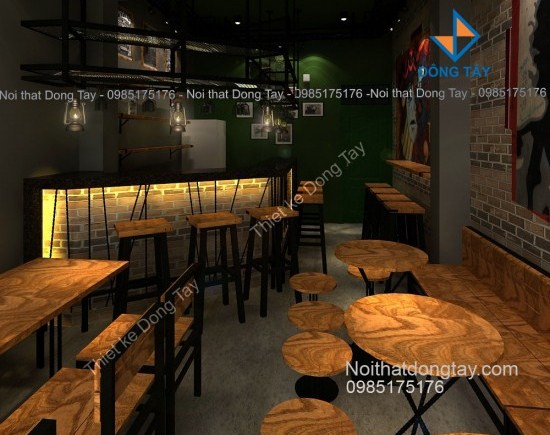 Thiết kế quán cafe phố cổ