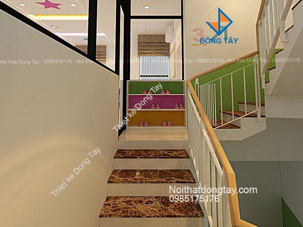 Thiết kế trang trí cầu thang mầm non