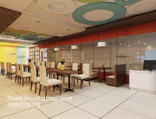 Thiết kế trang trí quán cà phê hiện đại